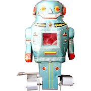 """Robot Wind-up Toy """"Mighty Robot"""" N Toys Made in Japan Early 1960's"""
