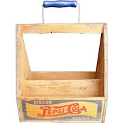 Pepsi Cola Double Dot 1920's/1930's Wooden lithographed bottle holder