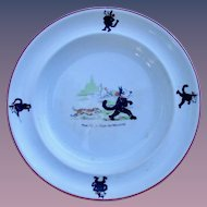 Felix the Cat Colorful 1920's Large Child's Plate/Bowl