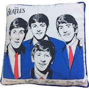 """Beatles Pillow circa 1964 12"""" square Official Nordic House Excellent condition!"""