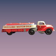Courtland Toys 1950's Tin Wind-up Gasoline Motor Oils Toy Truck