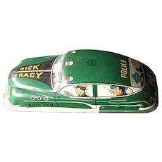 Dick Tracy 1949 Marx Toys Tin Riot Car Friction Toy