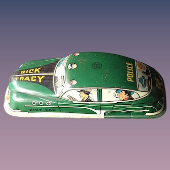 Dick Tracy 1949 Marx Toys Tin Riot Car Friction Toy