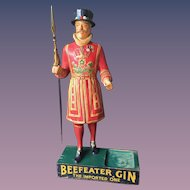 Beefeater Gin Large Composition Store Display Figure 1950's