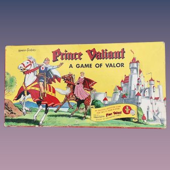 "Prince Valiant 1954 ""Game of Valor"" Transogram Boxed Board Game Beautiful Art"