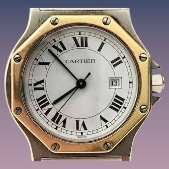 Vintage CARTIER Big Santos Manual Watch #296645302