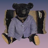 Antique Original Steiff Very Rare 1912 Steiff Titanic Black Teddy Bear