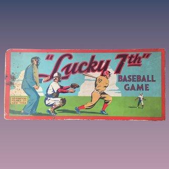 "Baseball 1937 ""Lucky 7th"" Board Game"