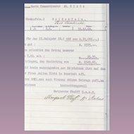 Authentic 1908 Signed MARGARETE STEIFF Factory Order/Receipt