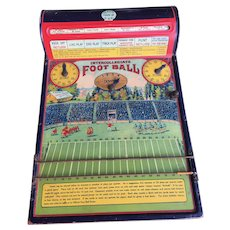 """Football 1920's Tin Lithographed """"Intercollegiate Football"""" Game"""