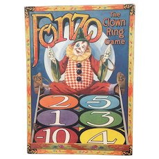 Fonzo Clown Ring Game 1920's Beautiful Colors and Graphics!