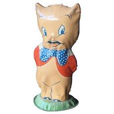 Porky Pig 1940's Figural Tin Toy