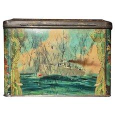 British Warships Submarine Circa 1910 Coleman's Mustard Tin Box