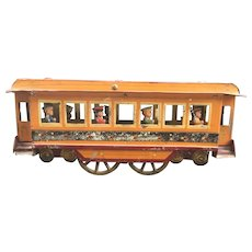 TROLLEY CAR/BUS Circa 1905 Large Pressed Steel Hill Climber Toy
