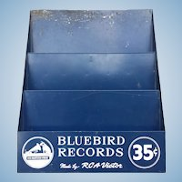 Bluebird / RCA Records Post War Metal Store display for 78 RPM Records