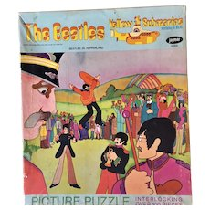 The Beatles 1968 Yellow Submarine Jigsaw Puzzle in Box