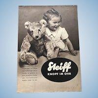 Original c. 1935 Authentic Steiff Catalog