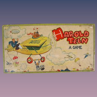 HAROLD TEEN 1920's Comic Strip Character Board Game