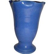 Large Bauer Matt Carlton Ribbed Ruffle Rim Vase