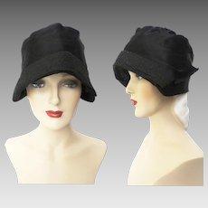 Vintage 1920s Hat   Lady Supreme   20s Flapper Hat   Black Hat   1920s Gatsby Hat   1920s Designer Hat   Black cloche hat  