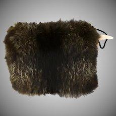 Vintage Fox Fur Muff//1940s//Hand Warmer//Old Hollywood//Glamorous//fox fur muff//40s Fox Fur Muff