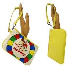 Vintage Twister Wristlet | Twister Game | Yellow | Graphics |