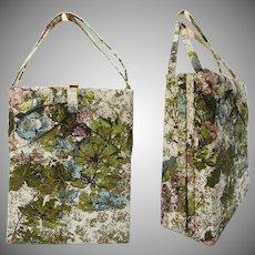 Vintage 1950s Purse//50s Handbag//Barkcloth//Sir David//New York//High Fashion//Couture