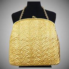 1960s Handbag //Gold Metallic // vintage 60s purse
