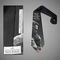 Men's Vintage Tie | Designer | Winning is not everything it is the only thing | necktie