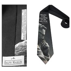 Men's Vintage Tie   Designer   Winning is not everything it is the only thing   necktie