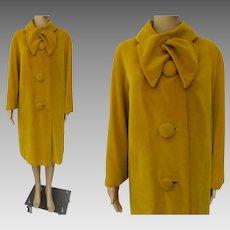Vintage 1950s Coat//Camel Color//McDaniels//Rockabilly//Mid Century//Mod