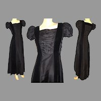Vintage 1940s Dress .  40 Evening Gown  .  Party  .  Dress  . Formal