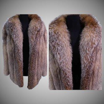 FOX FUR COAT | Bloomingdales | Fox Fur Jacket | Cross Fox Fur | High Fashion |