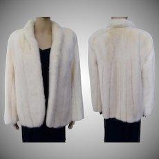 Vintage Mink Coat | 1960s Winter White Mink | Ultra Mink | Mink Jacket | High Fashion |