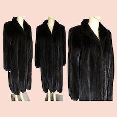 Full Length Mink Coat Dark Sable Brown