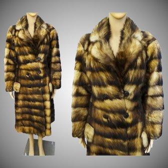 GORGEOUS Vintage Fox Fur Coat Donald Brooks Boutique Furs