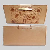Vintage 1960s Billfold | Hand Tooled | Original Box | NOS | Clifton's