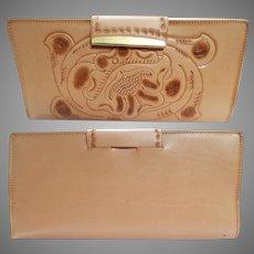 Vintage 1960s Billfold | Hand Tooled | Original Box | NOS | Clifton's