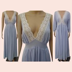 Vintage 1960s Peignoir Set | Burlesque Set | Blue Peignoir Set | 1960s Nightgown, Matching Robe |
