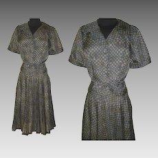 Vintage 1950s Suit  .  50s sui t .  Blakely Original   .  Designer  .  Novelty Print
