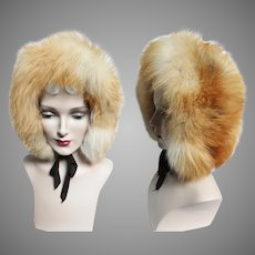Vintage Fox Fur Hat | Red Fox Fur | NOS | Tags Attached | 1960s Red Fox