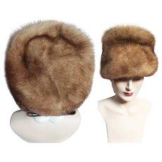 Vintage Mink Hat   1960s Mink Hat   Sitlers   Brown Mink