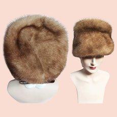 Vintage Mink Hat | 1960s Mink Hat | Sitlers | Brown Mink