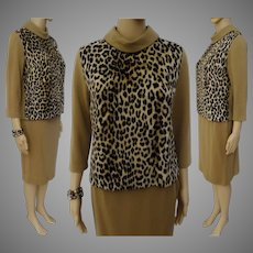 Vintage 1960s Suit | Faux Leopard | 60 Suit