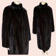 Full Length Mink Coat | Dark Mahogany Mink | 80s Mink Coat