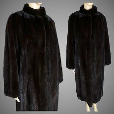 Full Length Mink Coat | Dark Mahogany Mink | 80s Mink Coat