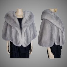 Silver Mink Stole | Big Shawl Collar | Gus Genetti Mink Shop | Sapphire Mink Stole |