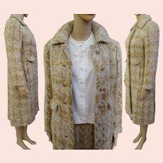 "Vintage 1960s COAT & SKIRT Set / 60s Coat and Pencil Skirt / Bust 37"""