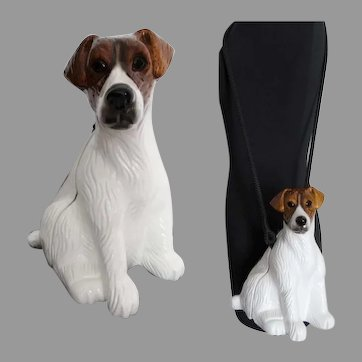 Timmy Woods Jack Russell Terrier Handbag Purse | Dust Cover | New with Tags
