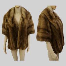 Vintage Mink Stole, Simon Pascal Furs, Brown Mink Fur Stole, 60s Mink Stole, Size M to L